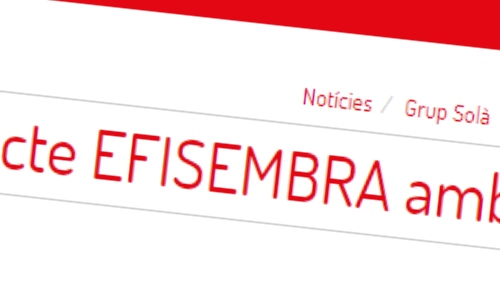 Projecte EFISEMBRA amb EURECAT-CTM